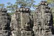 """Têtes monumentales du temples """"BAYON"""" sur le site de Angkor"""