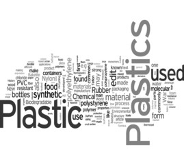 Plastic word cloud