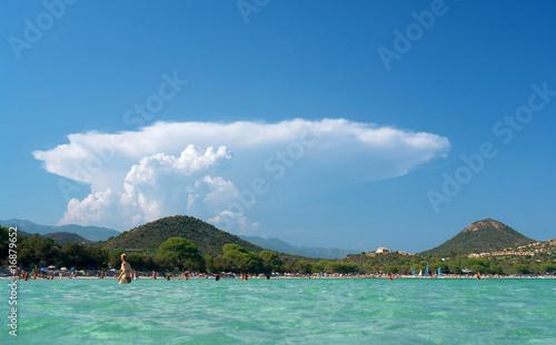 canvas print picture Corse, plage Santa Giula