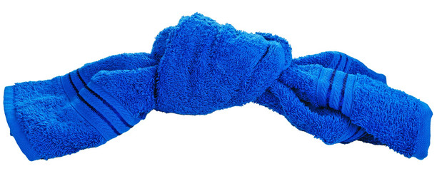 bath towel textile in knot