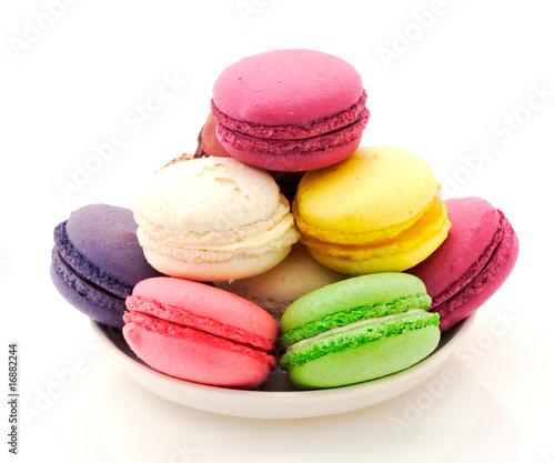 Plexiglas Bakkerij Assiette de macarons assortis