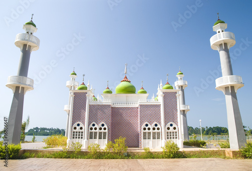 mosque with blue sky