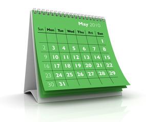 2010 calendar. May
