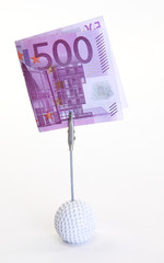 500 Euro on Golfball Clip