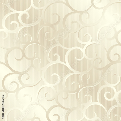 Silver beige shiny spirals texture, pattern; vector illustration
