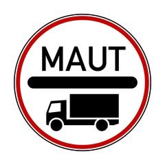 Verkehrsschild LKW Maut Vektor