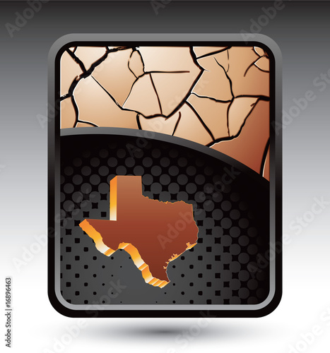 Bronze texas icon background