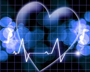 Heart beat on a monitor
