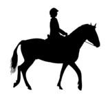 silhouette equestrian horse rider icon poster