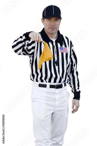Referee Calling a foul