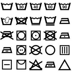 Symbole du lavage et  du repassage