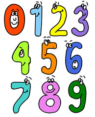 cartoon numbers. add to abc set. vector