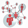 Social Network Molecule - Connections