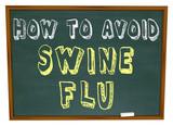 How to Avoid Swine Flu - Words on Chalkboard poster
