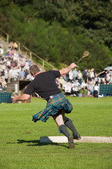 Scotsman throwing the weight at a Highland Games event