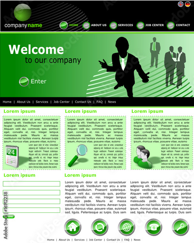 Website Template Business green