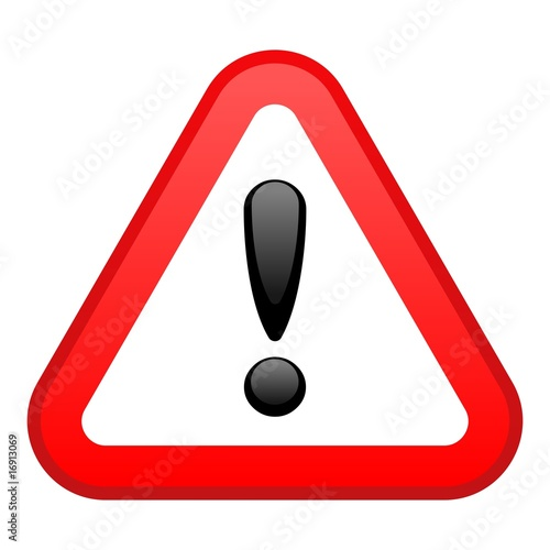 Warning Red Triangular Sign