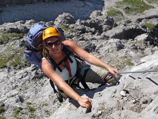 female climber - Frau beim Klettern