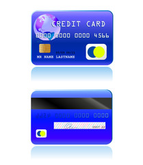 vector credit card front back