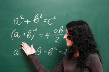 At the blackboard