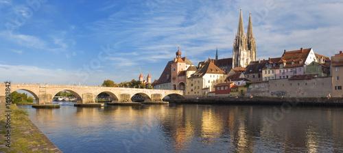 Leinwanddruck Bild Danubio, Regensburg