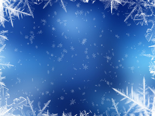 snowing background - blue
