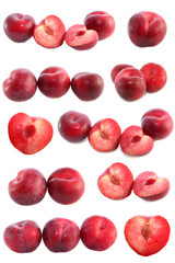 set plums isolated.