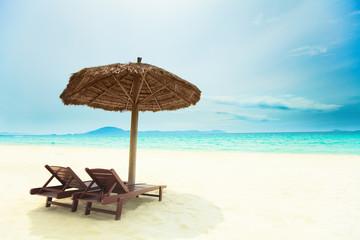 Sandy tropical beach