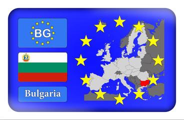 3D-Button Europäische Union - Bulgarien