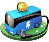 Investir dans le transport en commun électrique (détouré) poster