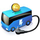 Investir dans le transport en commun électrique (reflet) poster