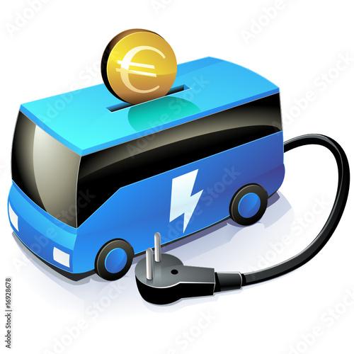 Investir dans le transport en commun électrique (reflet)