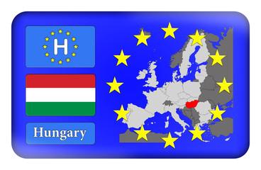3D-Button Europäische Union - Ungarn