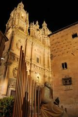 Clerecia y Casa de las Conchas de noche