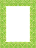 green pattern frame with text box