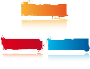 3 grunge vector banners
