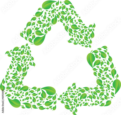 recycle signal from lot of leafs