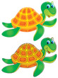 Turtle (color and black contours)