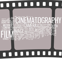 Cinema - film word cloud