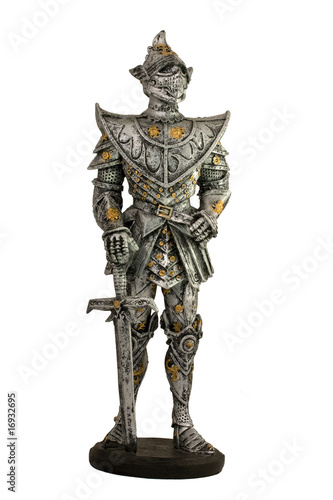 Knight souvenir isolated on white