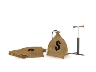 Bag and bike pump