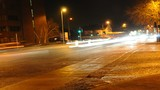 HD Close up time-lapse footage of night time traffic