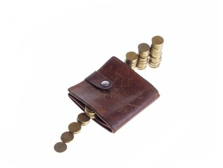 Wallet With Money, conceptual studio isolated photo