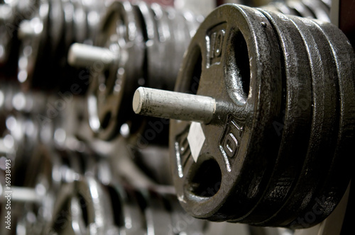Dumbbell weight background