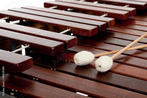 Leinwanddruck Bild Marimba with mallets
