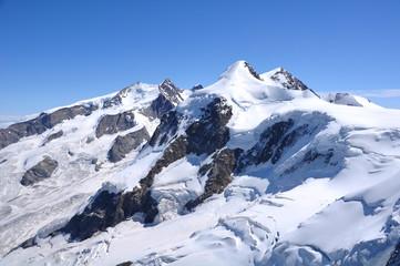 Monte Rosa nahe Zermatt und Matterhorn