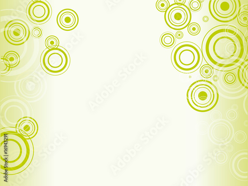 green background for postcard