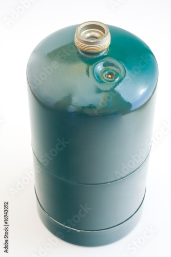 Small propane tank isolated on white