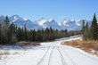 wild west road in the snow