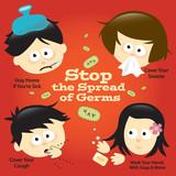 Flu Prevention Poster Sign poster